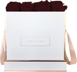 The Rosé Gold Collection Burgundy Large white - square