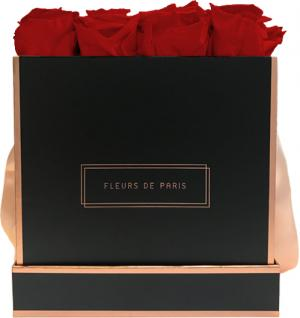 The Rosé Gold Collection Royal Red Large black - square