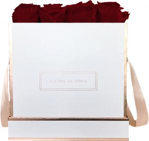 The Rosé Gold Collection Ruby Red Large white - square
