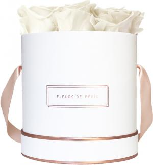 The Rosé Gold Collection Ivory Medium white - round