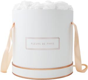 The Rosé Gold Collection Pure White Petit Luxe white - round