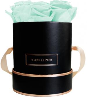 The Rosé Gold Collection Minty Green Small black - round