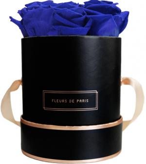 The Rosé Gold Collection Ocean Blue Small black - round