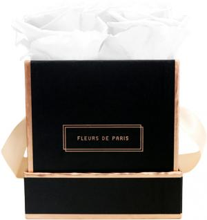 The Rosé Gold Collection Pure White Small black - square