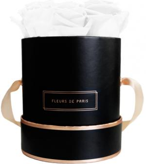 The Rosé Gold Collection Pure White Small black - round