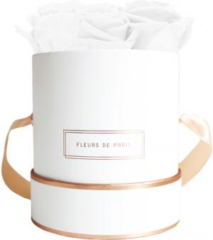The Rosé Gold Collection Pure White Small white - round