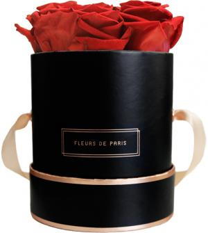 The Rosé Gold Collection Royal Red Small black - round