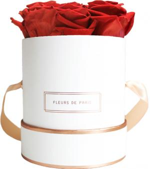 The Rosé Gold Collection Royal Red Small white - round