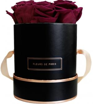 The Rosé Gold Collection Velvet Plum Small black - round