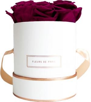 The Rosé Gold Collection Velvet Plum Small white - round